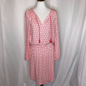 Boden Elastic Waist Dress with Tassels